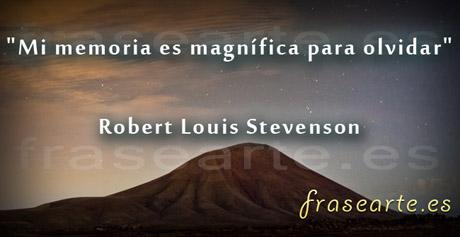 Frases para olvidar, Robert Louis Stevenson