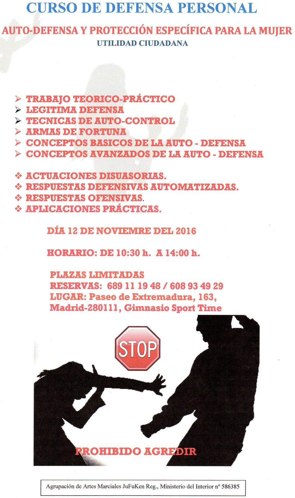 Ampa csb madrid curso de defensa personal for Autoescuela colonia jardin