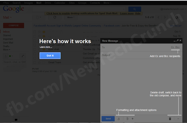 Gmail email New Composer