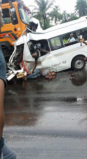 All Passengers Dead In A Fatal Road Accident Involving Peace Mass and a Truck