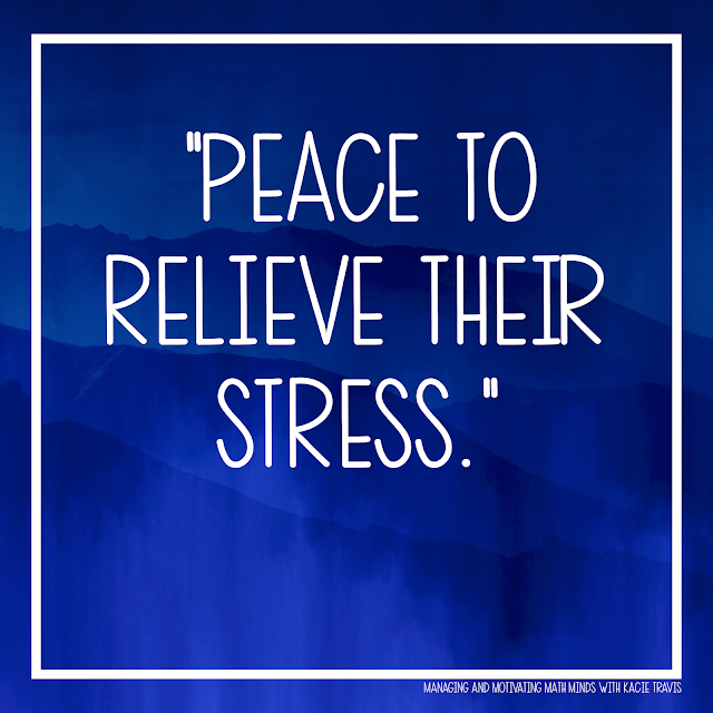 Lord, give my students peace to relieve their stress.