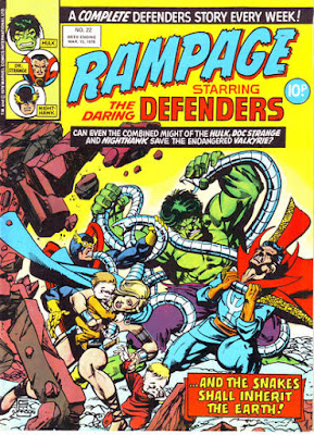 Rampage #22, Defenders vs Sons of the Serpent