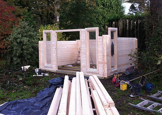Cheltenham Log Cabin Installed In Dollar Central Scotland