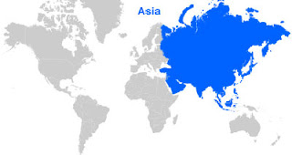 Asia Map Location