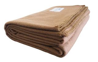 Rugged Tan Wool Blanket