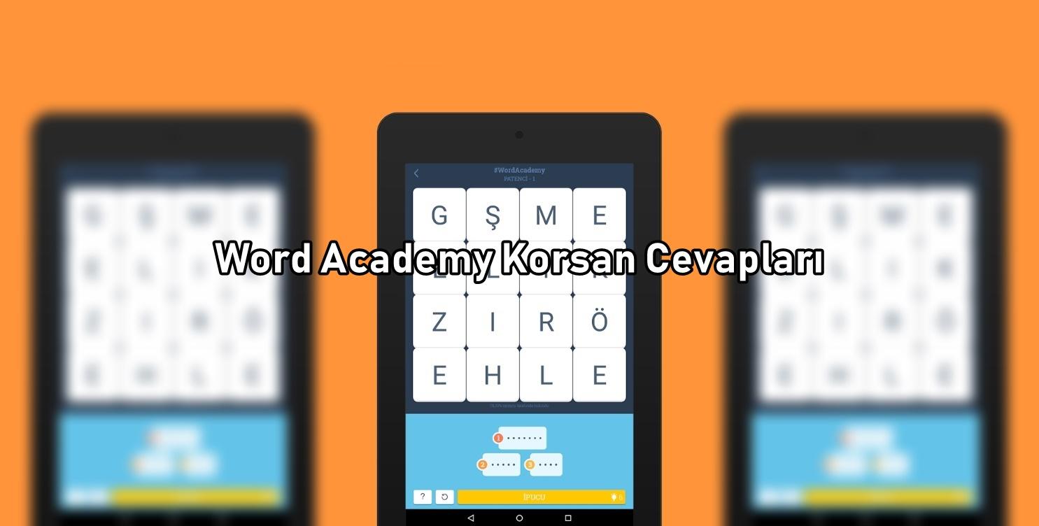 Word Academy Korsan Cevaplari