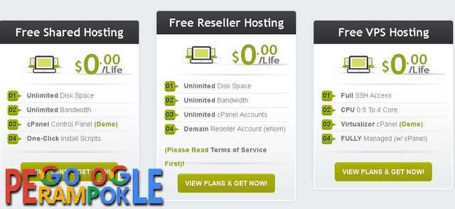 Paket hosting reseller hosting dan vps gratis selamanya