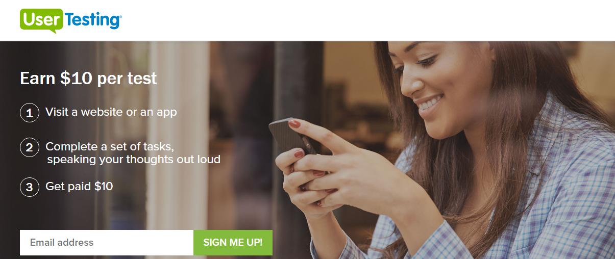 كسب المال من - usertesting.com