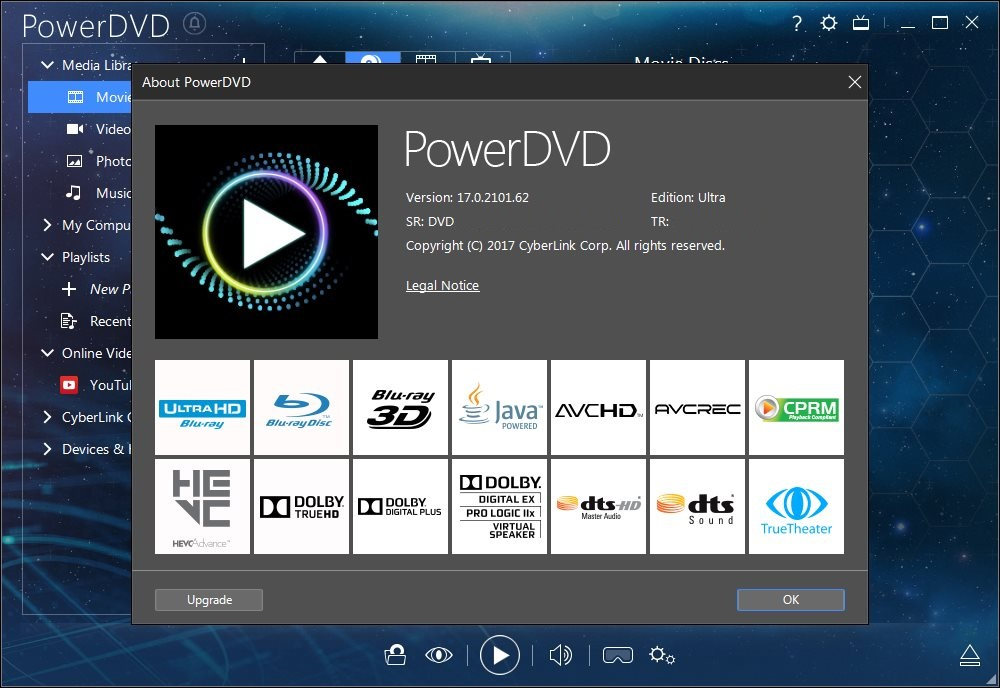 CyberLink PowerDVD Ultra v17.0.2101.62 Español Full Crack
