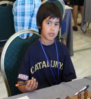 El joven ajedrecista Aleix Miró i Arbelaes