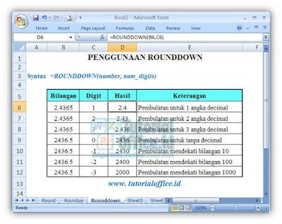 Fungsi Rounddown
