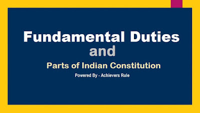 Polity Notes Fundamental Duties and Parts of Constitution