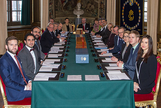 Crown Princess Victoria attending a cabinet meeting in Royal Place