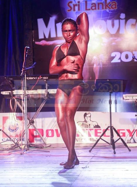 sri Lanka's first competitive female bodybuilder