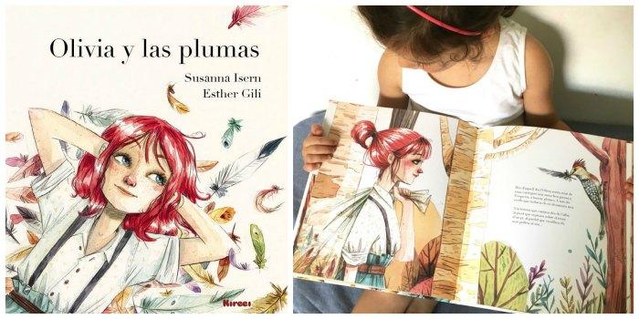 cuentos sobre naturaleza, primavera, consciencia medioambiental, Olivia y las plumas susanna isern esther gili kireei