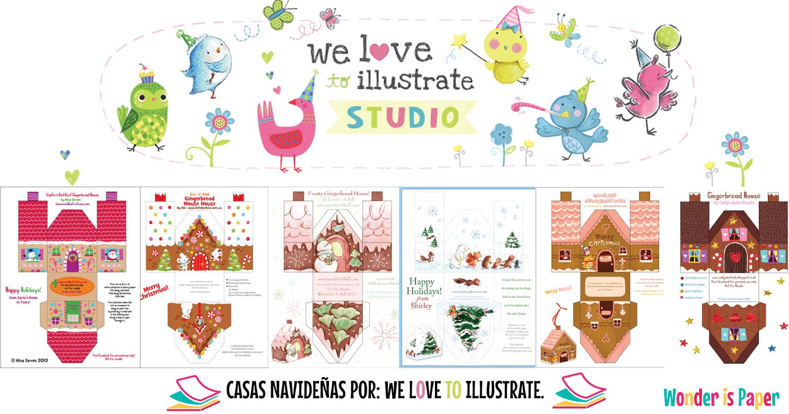 Casas de Navidad imprimibles. - Wonder Is Paper