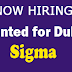 Wanted for Dubai - Sigma | Apply Now