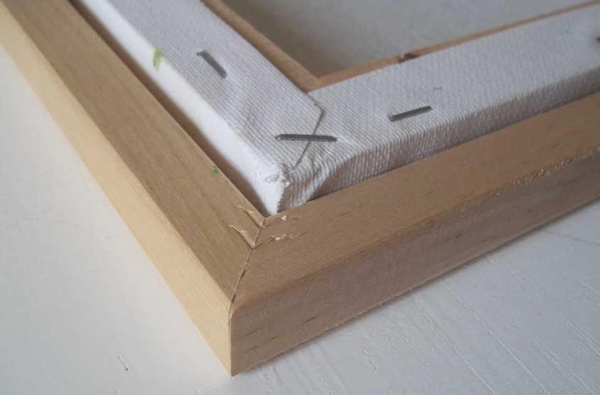 Amanda Bates\' Art Blog: DIY Framing: Framing a Canvas