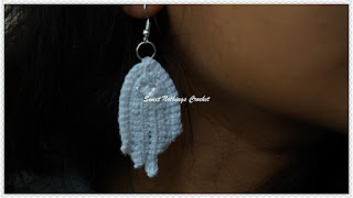 free crochet pattern, Irish lace ear ring, Crochet ear ring, Free Irish lace pattern, #Blogaday