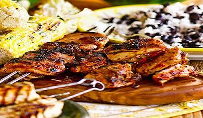 الدجاج المشوى بالليمون و الثوم Frango churrascoعلي الطريقه البرازيلية مع صوص الباربيكيو