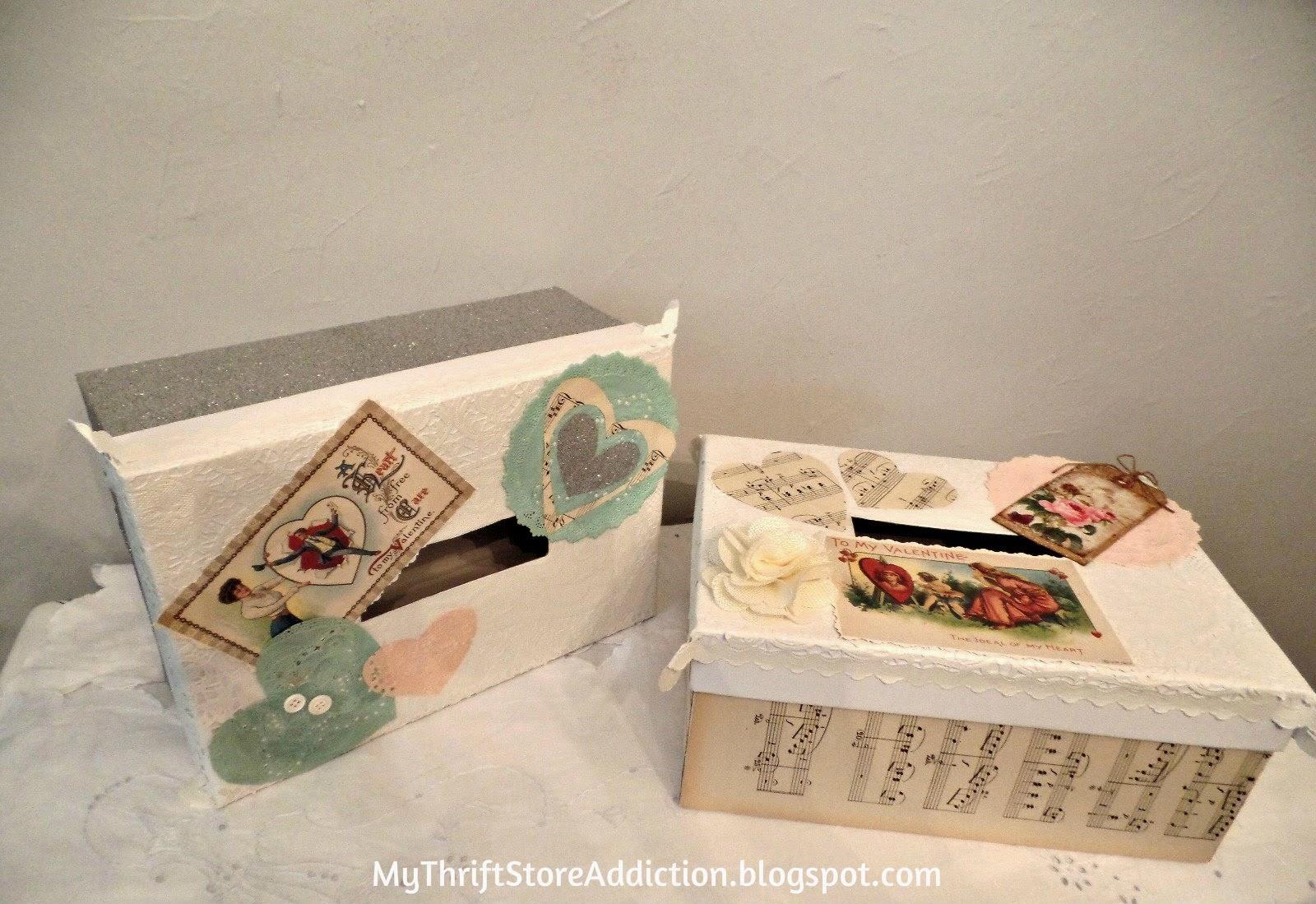 Vintage valentine boxes