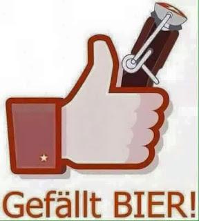 Gefällt Bier, me gusta la cerveza, Facebook