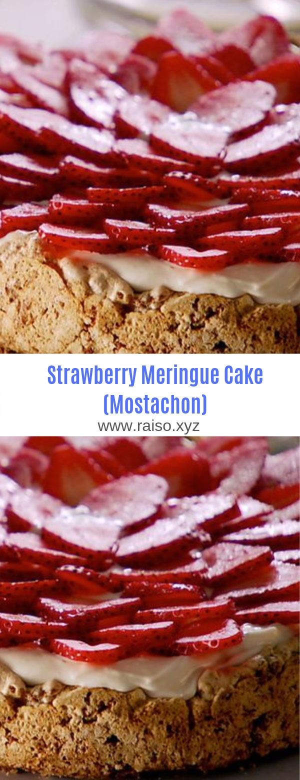 Strawberry Meringue Cake (Mostachon)