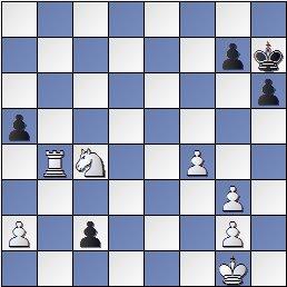 Posición partida de ajedrez Tylkovski - Wojciechovski después de 34. c2