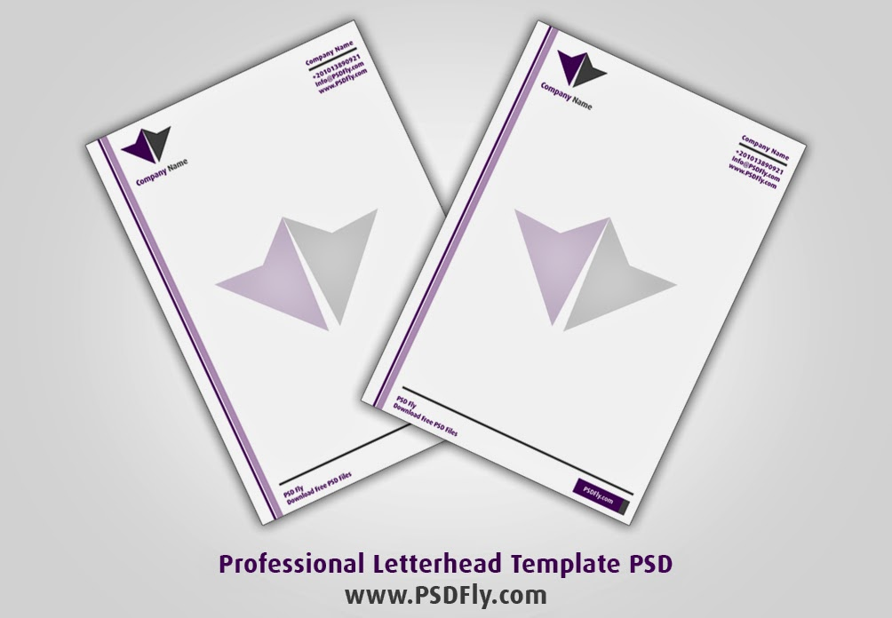 Professional Letterhead Template PSD PSD Fly Download Free PSD Files