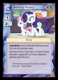 My Little Pony Reliving History Friends Forever CCG Card