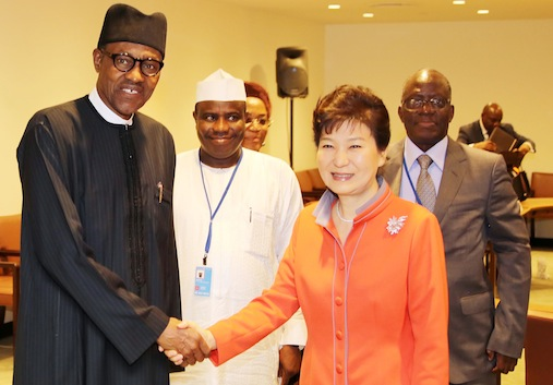 buhari meets south korea president