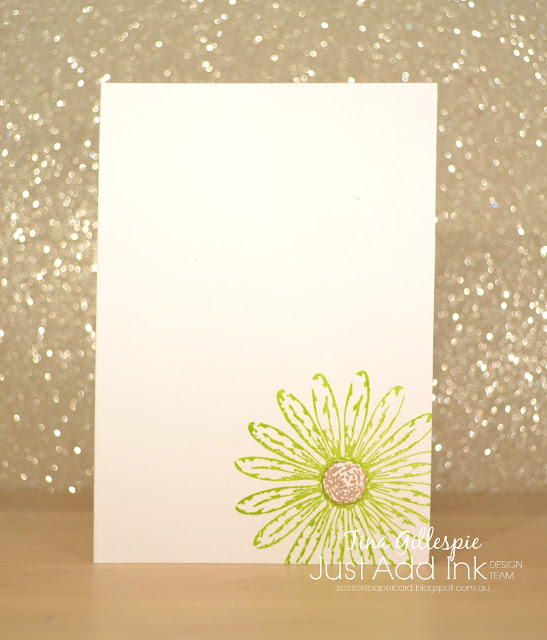 scissorspapercard, Stampin' Up!, Just Add Ink, Daisy Delight Bundle, Just Because, Gingham Gala DSP