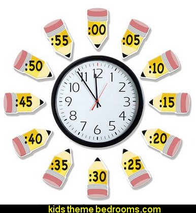 Eureka Telling Time Bulletin Board Sets