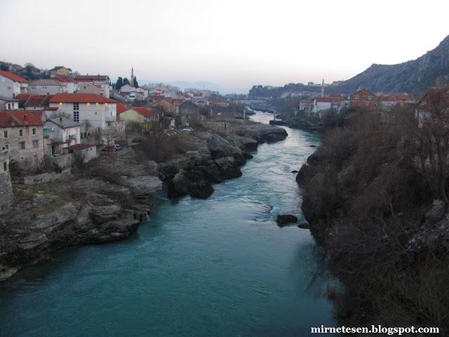 Река Неретва, Мостар