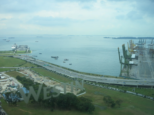 view from westin singapore