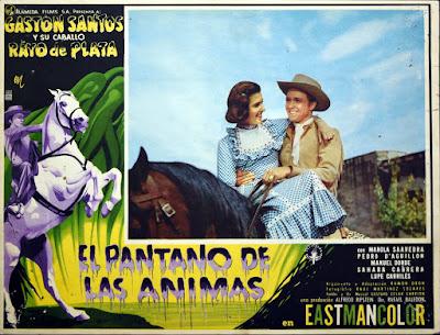 LE MONSTRE DU MARECAGE (EL PANTANO DE LAS ANIMAS), western fantastique, cinéma mexicain, Gaston Santos, lobby card