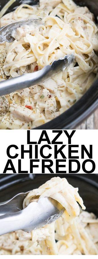 Slow Cooker Easy Chicken Alfredo