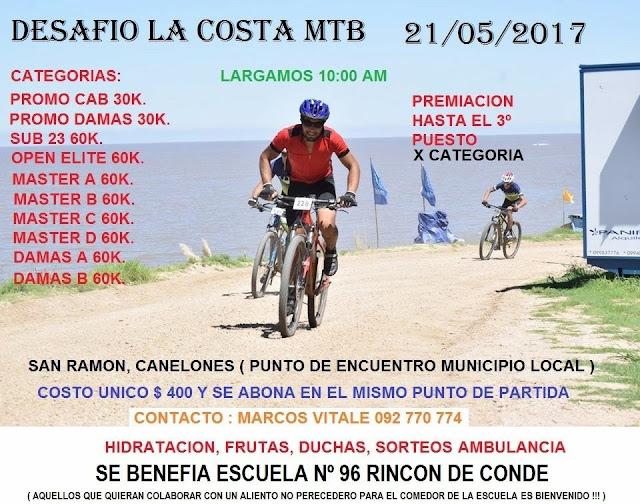 MTB - Carrera La Costa en San Ramón (Canelones, 21/may/2017)