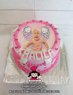 Edible Image Cake Hello Kitty dan My Little Pony
