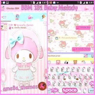 BBM MOD Baby Melody Base 3.0.0.18 Update Terbaru [Background Cute]