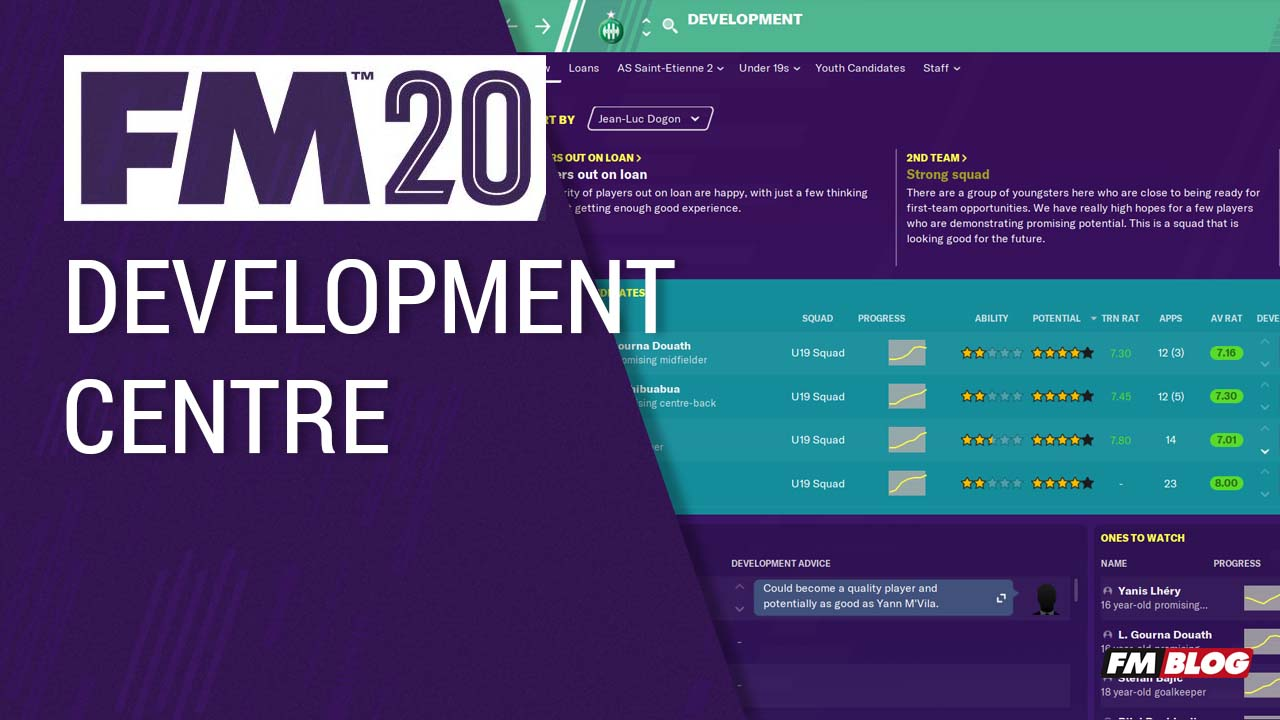 FM20 New Features - Development Centre