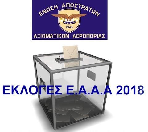 Εκλογές ΕΑΑΑ - Υποψήφιοι