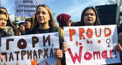В Украине состоялись марши в защиту прав женщин