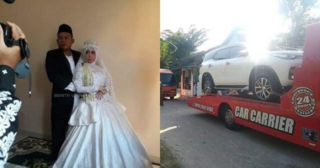 Penjual Bakso Ini Menikahi Pacarnya Dengan Mahar Motor dan Mobil Mewah