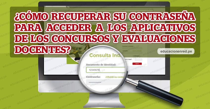 MINEDU: ¿Olvidó la Contraseña? Recupera tu clave para ver los resultados - Nombramiento Docente 2019 [VIDEO - TUTORIAL] www.minedu.gob.pe