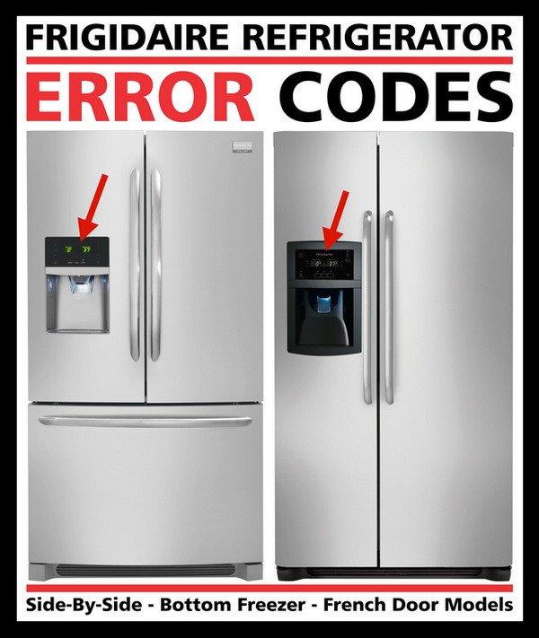 Reparaciones: Códigos De Error Del Refrigerador Frigidaire