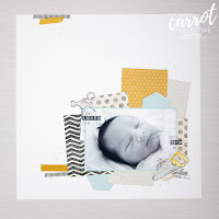Nailed It Baby Scrapbook Page - Susan Wong for The Crafty Carrot Co.