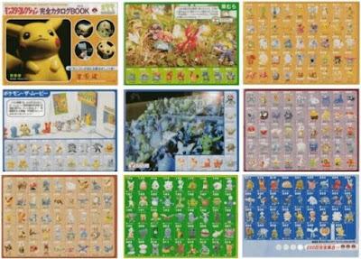Pokemon Figure Tomy Monster Collection Gen1 Gen2 251 figures catalog from CoroCoro 2001