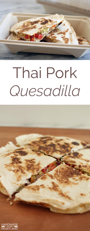 Leftover Pulled Pork turned into Thai Pork Quesadillas  #HeatAndEat
