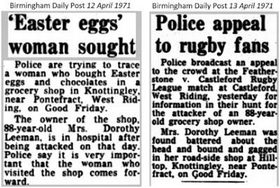 Attack on Mrs Dorothy Leeman, 1971